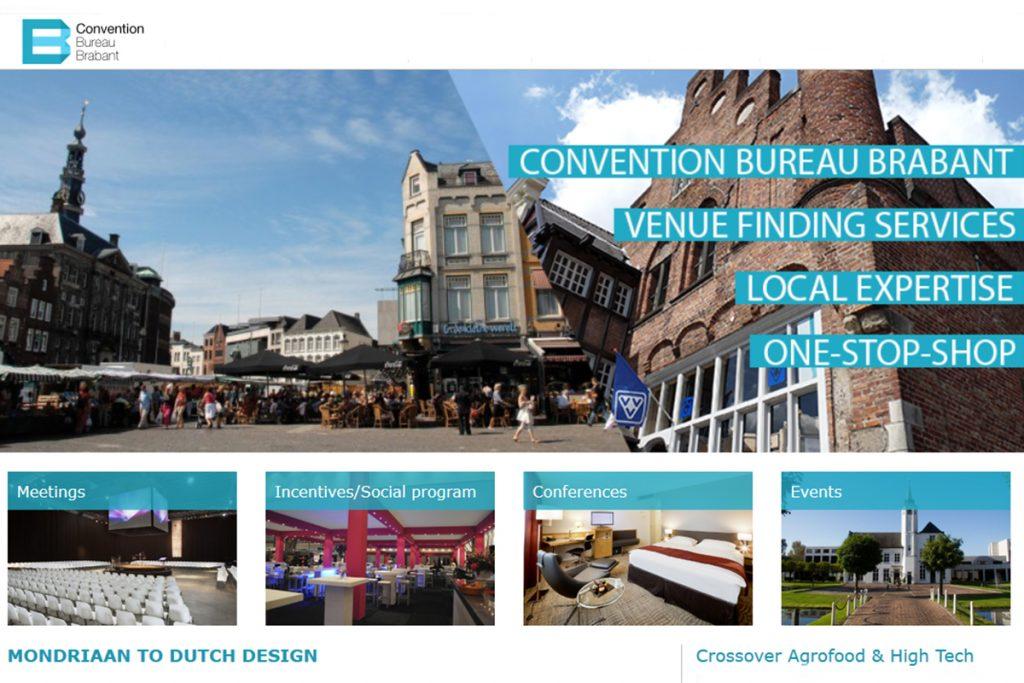 Convention Bureau Brabant website