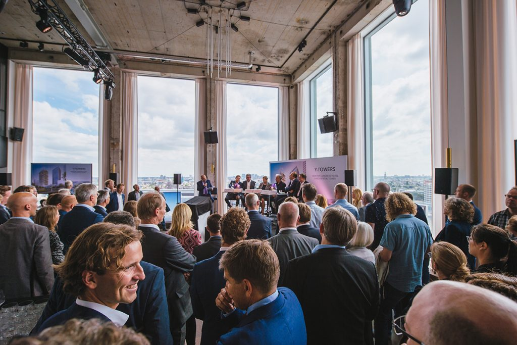 "Festive ""Ground-breaking Event"": The kick-off for the new Maritim Hotel Amsterdam."