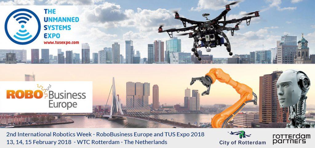 RoboBusiness Europe and TusExpo 2018, 13 - 15 February Rotterdam