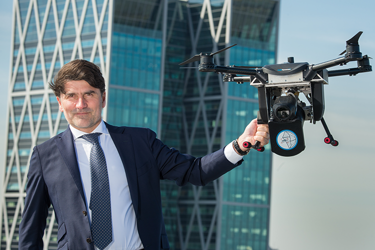 Launch of the Amsterdam Drone Week by RAI CEO Paul Riemens