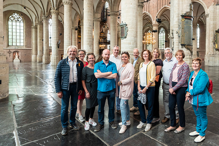 Belgische Fam-trip groep in Pieterskerk Leiden