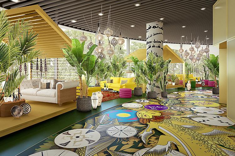 Nhow Amsterdam RAI design lobby