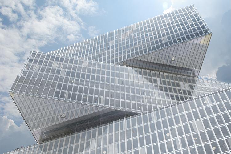 Rendering facade Nhow Amsterdam RAI