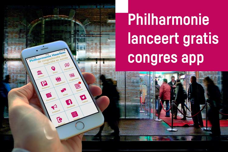 De Philharmonie Congres App – interactief én duurzaam