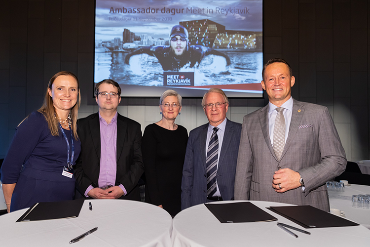 Meet in Reykjavik signing with universities