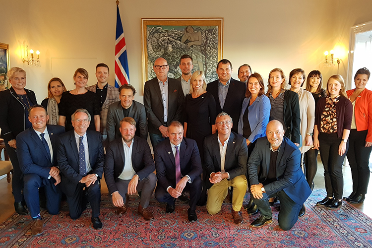 Strategic Alliance of the National Convention Bureaux of Europe meets the President of Iceland