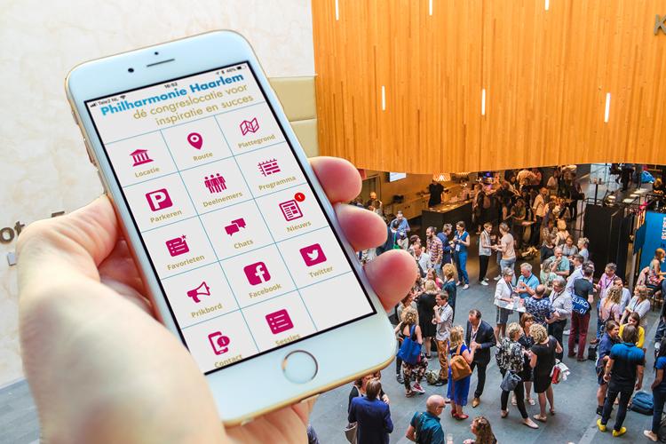 De gratis congres app van de Philharmonie Haarlem in praktijk