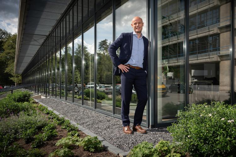Niels Hoek voor het U Parkhotel in Enschede