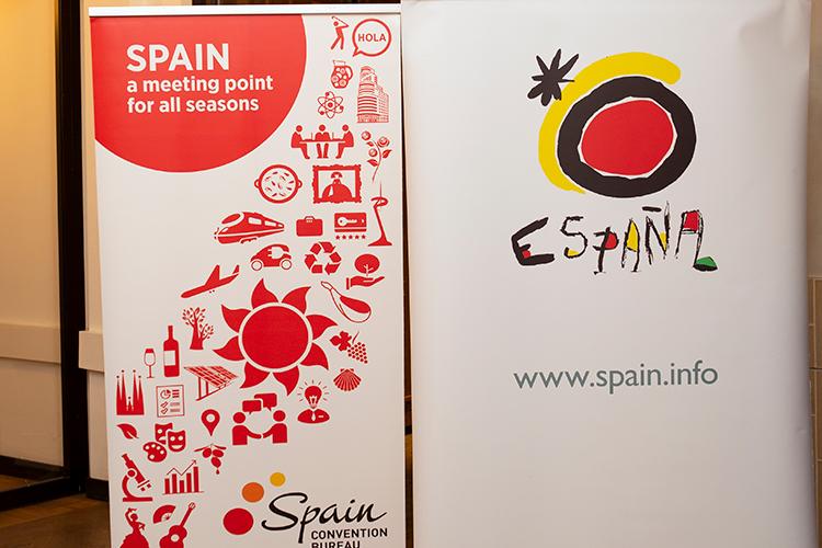Banieren op de Spaanse MICE Meeting