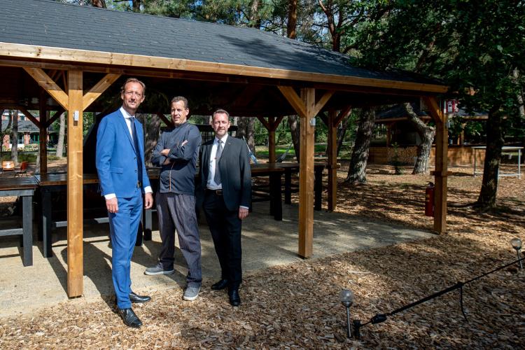 General Manager Wouter Wagelaar, chefkok Marvin Koetsier, en F&B Manager Andri Jansen