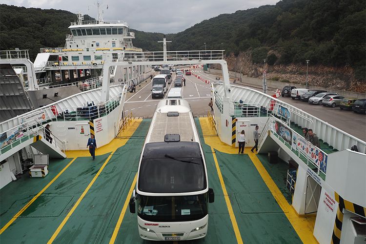 Global Green Destination Days | Bus on ferry