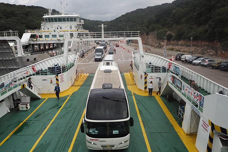 Global Green Destination Days | Bus on ferry