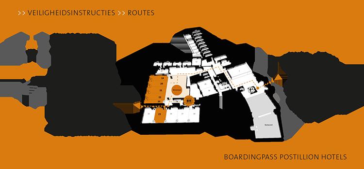 Boardingpass Postillion Hotels achterkant