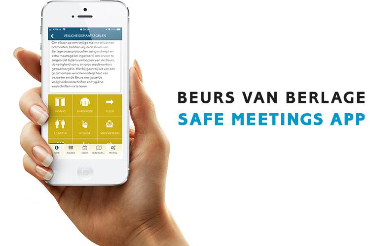 Beurs van Berlage Safe Meetings App