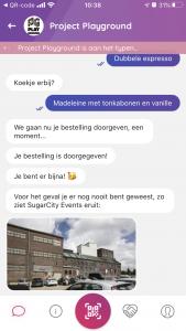 GroundControl app chat berichten