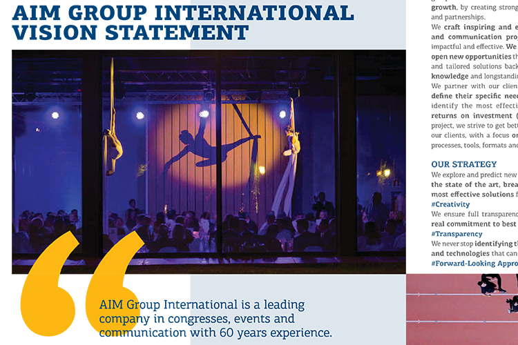 Vision statement AIM Group Annual Report 2019