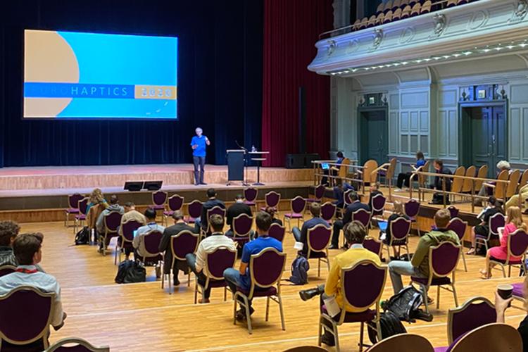 Eurohaptics hybrid conference in Leiden