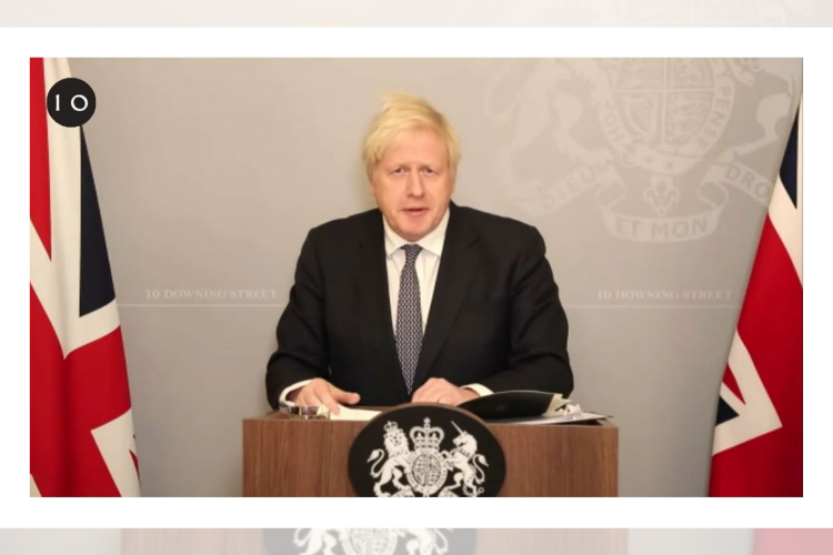 Boris Johnson at online press conference