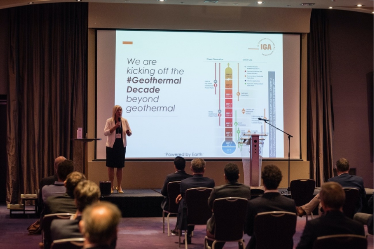Geothermal reception in the Hilton, The Hague, September 2020 – photo credit Holland Park Media