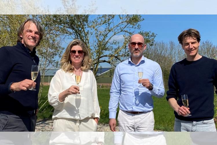 Erwin Verschoor (MPS), Miranda Hesselmans (MPS), Collin Schoonens (Hutten) en Drees Peter van den Bosch (Hutten)