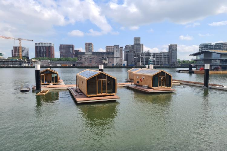 Wikkelboats in de Rotterdamse Rijnhaven